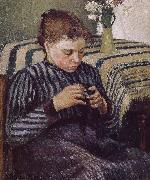 Camille Pissarro Woman Sewing oil painting picture wholesale